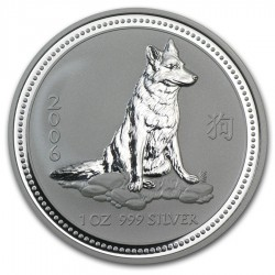 AUSTRALIA 1 DOLAR 2006 PERRO I SERIE LUNAR PLATA SILVER DOLLAR