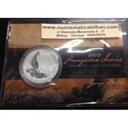 AUSTRALIA 1 DOLAR 2013 CANGURO PLATA Silver Blister Känguru $1