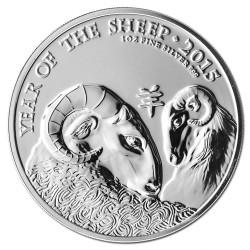 . INGLATERRA 2 LIBRAS 2015 AÑO DE LA CABRA PLATA Silver Oz