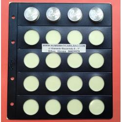 PARDO HOJA PARA MONEDAS 773 Negra Claraboya (26 mm. para 2€ Euro
