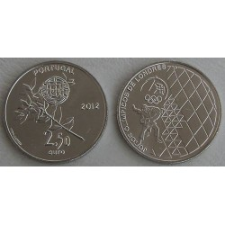 PORTUGAL 2,50 EUROS 2012 OLIMPIADA LONDRES NIQUEL SC