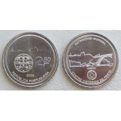 PORTUGAL 2,50 EUROS 2008 OPORTO NIQUEL SIN CIRCULAR