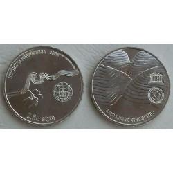 PORTUGAL 2,50 EUROS 2008 UNESCO VIÑEDOS DEL ALTO DUERO MONEDA DE NICKEL SC