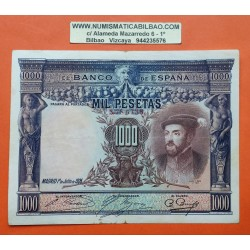 ESPAÑA 1000 PESETAS 1925 CARLOS I SIN SERIE 482 MBC++ Pick 70