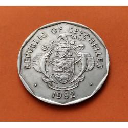 . SEYCHELLES 25 RUPIAS 1983 BARCO FAO SERIE KM*53 NICKEL SC Rupe