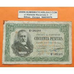 ..ESPAÑA 50 PESETAS 1951 RUSIÑOL Serie B.2438947 SC- PICK 141