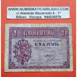 ESPAÑA 1 PESETA 1937 OCTUBRE 12 BURGOS Serie B731 SC @LEER@