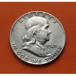 ESTADOS UNIDOS 1/2 DOLAR 1956 P FRANKLIN PLATA US HALF DOLLAR SC