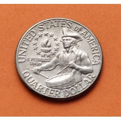 USA 1/4 DOLLAR 1976 D WASHINGTON NICKEL UNC+ QUARTER