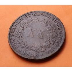.PORTUGAL ALGARVE 400 REIS 1813 JOAO VI PLATA SILVER PORTUGUESE