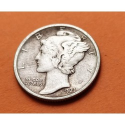 USA 10 CENTS DIME 1920 P MERCURY SILVER XF