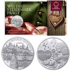 AUSTRIA 10 EUROS 2012 STEIERMARK GRAZ PLATA SET SILVER BU