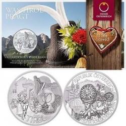 ..AUSTRIA 10€ EUROS 2014 REGION TIROL COBRE SC MONEDA COIN