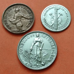 . 50 CENTIMOS 1+2 PESETAS 1937 CONSEJO DE ASTURIAS y LEON ESPAÑA