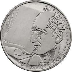 GERMANY 10 EUROS 2012 J NICKEL UNC HAUPTMANN