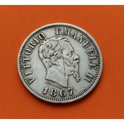 .ITALIA 5 LIRAS 1877 R VITTORIO EMANUELE II PLATA SILVER ITALY