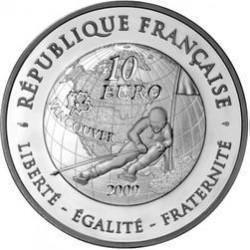 FRANCE FRANKREICH 10 EUROS 2009 SILVER PP SKI JEUX D'HIVER