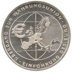 ALEMANIA 10 EUROS 2002 Ceca F PLATA SC SILVER EUROPA