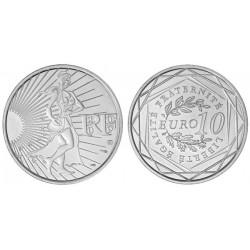 FRANCE FRANKREICH 10 EUROS 2009 SILVER UNC SEMEUSE