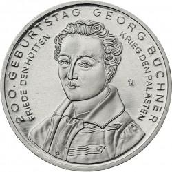 ALEMANIA 10 EUROS 2013 Ceca F NICKEL SC GEORGE BUCHNER