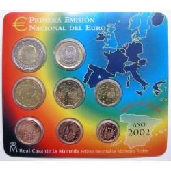 ESPAÑA CARTERA FNMT EUROS 2002 BU SET KMS EURO