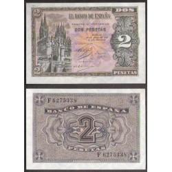 2 PESETAS 1938 ABRIL 30 BURGOS Serie F310 SC ESPAÑA @LEER@