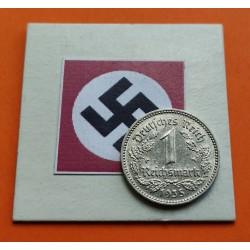 ALEMANIA 1 MARCO 1934 J NAZI III REICH NICKEL EBC REICHSMARK 2