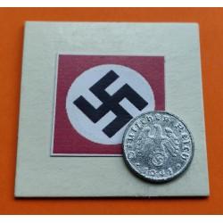 DITTRES REICH GERMANY 5 REICHSPFENNIG 1940 F SWASTIKA NAZI ZINC
