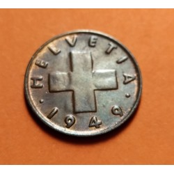 SUIZA 1 RAPPEN 1942 B VALOR ZINC III REICH NAZI WWII