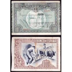 1937 EUSKADI 100 PESETAS MONTE DE PIEDAD EBC- 194477 BILBAO
