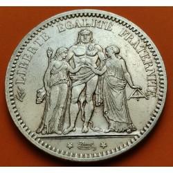 .FRANCE 5 FRANCS 1875 A HERCULES SILVER VF++