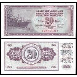 . YUGOSLAVIA 20 DINARA 1978 BARCO Pick 88A SC BILLETE DINAR