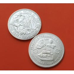 . 1000 ESCUDOS 1996 PORTUGAL FRAGATA FERNANDO II PLATA SC-