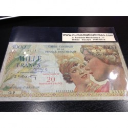 SAINT PIERRE ET MIQUELON 20 / 1000 FRANCOS 1964 Pick 34 RARO