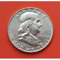 ESTADOS UNIDOS 1/2 DOLAR 1961 D FRANKLIN PLATA US HALF DOLLAR SC