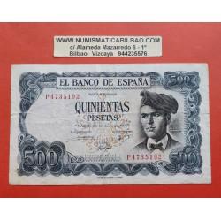 ESPAÑA 500 PESETAS 1971 JACINTO VERDAGUER Serie P 4735192 Pick 153 BILLETE MBC- Spain PVP NUEVO 16€