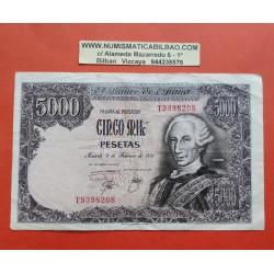 ESPAÑA 5000 PESETAS 1976 REY CARLOS III Serie T 9398208 Pick 155 BILLETE MBC Spain banknote PVP NUEVO 95€