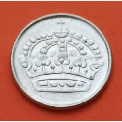 SUECIA 25 ORE 1956 G Rey GUSTAV VI KM.824 MONEDA DE PLATA MBC Sweden silver coin