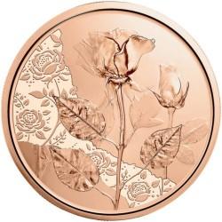 . 1ª moneda x AUSTRIA 10 EUROS 2021 LA ROSA AMOR y DESEO Serie THE LANGUAJE OF FLOWERS COBRE SC The Rose