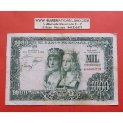 ESPAÑA 1000 PESETAS 1957 REYES CATOLICOS Serie Z 5038219 Pick 149 BILLETE MUY CIRCULADO Spain banknote