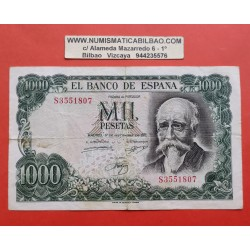 ESPAÑA 1000 PESETAS 1971 JOSE ECHEGARAY Serie S 3551807 Pick 154 BILLETE MBC- Spain banknote