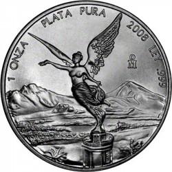 MEXICO 1 ONZA 2008 ANGEL PLATA PURA SC ONZA SILVER UNC