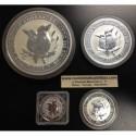 AUSTRALIA 1994 PLATA KOOKABURRA 30$+10+2+1 DOLLAR SILVER Oz
