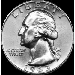 USA 1/4 DOLLAR 1964 P WASHINGTON PROOF SILVER QUARTER