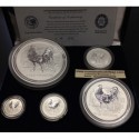 @OFERTA@ AUSTRALIA 0,50 + 1 + 2 + 10 + 30 DOLLARS 2005 LUNAR SERIE YEAR OF THE ROOSTER SILVER 46 ONZAS OZ