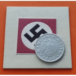 ALEMANIA 50 REICHSPFENNIG 1941 G AGUILA ESVASTICA NAZI @RARA@