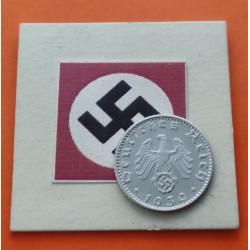 ALEMANIA 50 REICHSPFENNIG 1939 B AGUILA ESVASTICA NAZI III REICH