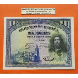 ESPAÑA 1000 PESETAS 1928 REY FERNANDO III Sin serie 969 MBC Pick