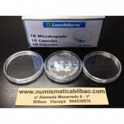 .CAPSULAS PARA GUARDAR MONEDAS 26mm (2 EUROS)