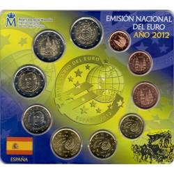 ESPAÑA CARTERA FNMT EUROS 2012 BU SET KMS 2 EURO BURGOS